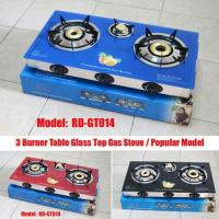 Buy cheap 3 Burner tempered glass free standing gas stove/table gas cooker (RD-GT014) from wholesalers