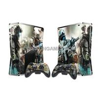 Buy cheap Crystal Epoxy Skin Sticker Colourful For Xbox 360 Slim Console W/ 2 Controller Skin - 246 Themes from wholesalers