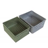 Buy cheap Light green and light grey rectangle twill storage basket Number: FTYX16-007 from wholesalers