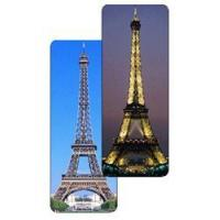 Buy cheap Lenticular bookmark with Paris, France Eiffel Tower changes from day to night product