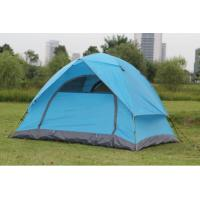 Buy cheap 3-4 People Aluminum Pole Water Proof Two Layer Manual Open Light Family Tent from wholesalers