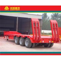 Buy cheap flatbed and tipper semi trailer sinotruk 3 axle low bed semi trailer (13000USD) from wholesalers
