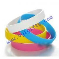 Buy cheap Silicone bracelets with printing logo from wholesalers