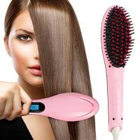 Pink Anti Scald Hair Straightener Brush