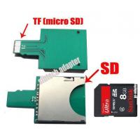 Buy cheap SDHC/SD card to micro SD TF extender adapter card for mobile phone from wholesalers
