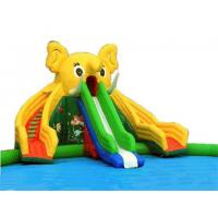 Buy cheap Giant Dual Lane Inflatable Elephant Slide Water Park from wholesalers