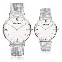 Buy cheap Steel mesh band simple couple watch from wholesalers