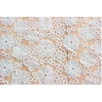 Buy cheap For Ladies' Dress White Organza Cotton Embroidered Lace Fabric Voile Lace from wholesalers