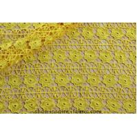 Buy cheap Wholesale and retail Unique Net Yellow Lace Guipure Fabric for Party Dress from wholesalers