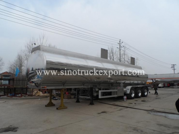 Quality 3 FUWA/BPW Axles Aluminium Oil Tank Semi-trailer for sale