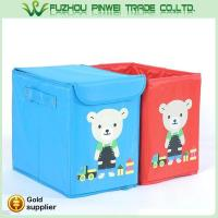 Buy cheap Cute cartoon foldable Non Woven fabric toy kids storage box product