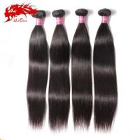 Buy cheap Ali Queen Amazing 4Pcs Malaysian Straight Hair Extensions 100% Virgin Hair Weft Free Shipping from wholesalers