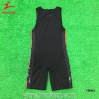 Buy cheap Wholesale Hight Qulity Silicone Non-Silp Band Wrestling Singlets from wholesalers