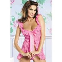 Buy cheap Pink Floral Lace Sleep Shirt And ThongW342107C from wholesalers
