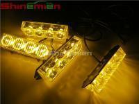 Buy cheap Car Truck Red Blue LED flashing lamp car 4 x 4led strobe light 12volts with wireless remote control from wholesalers