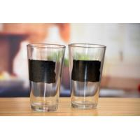 Buy cheap Drinking Glasses DX-14104 Machine Made Clear Pint Beer Glass With Black Printing from wholesalers