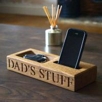 Buy cheap Personalised Oak Phone and Coin Tray from wholesalers