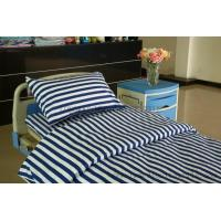 Buy cheap blue white stripe hospital cotton bed sheet from wholesalers