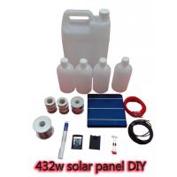 China 432w DIY Solar Panel BUSS WIRE + FLUX PEN + DIODES on sale