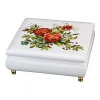 Buy cheap Wooden Jewelry Music Box with Floral Pattern from wholesalers