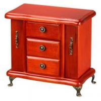 Wooden Jewelry Chest with Doors and Drawers