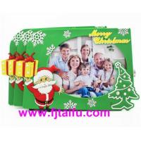 Buy cheap custom santa claus pvc photo picture frame for christmas souvenir from wholesalers