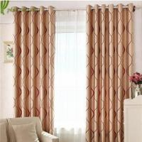 Buy cheap 100% Polyester Jacquard Window Treatment Curtain Panels from wholesalers