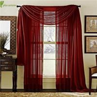 Buy cheap Light Adjustment Net Voile Sheer Valance Curtains from wholesalers