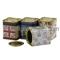 Buy cheap Airtight small metal tea leaf tin can loose tea tin from wholesalers