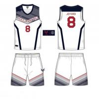 Buy cheap OEM custom sublimation printing blank basketball jerseys 6JT29195 from wholesalers