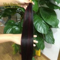 Buy cheap 1bundle Brazilian virgin hair wine red highlight straight from wholesalers