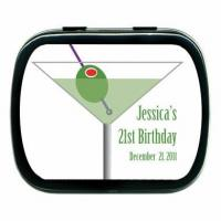 Buy cheap 21st Birthday Favors - Candy Martini Theme Party Tin from wholesalers
