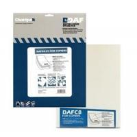 Chartpak DAF8 Self-adhesive Drafting Applique Film for copiers, 8-1/2x11, 100 matte sheets/box