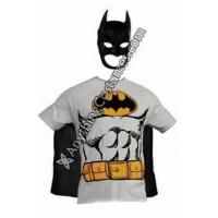 Buy cheap Batman Suit Muscle Printed T-Costume Shirt With Detachable Cape and Mask from wholesalers