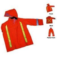 Buy cheap Orange High Visibility 3pc Rain Suite, Flame Retardant from wholesalers