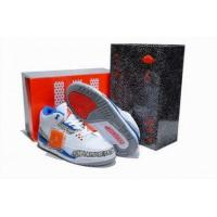 Buy cheap Air Jordan 3 Blue White Grey Red Mens Wholesale Sneakers from wholesalers