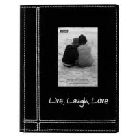 "Buy cheap Pioneer Sewn Leatherette Embroidered Live, Laugh, Love"" Frame Cover Brag Book, Black from wholesalers"