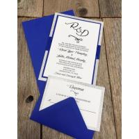 Buy cheap Shimmer Silver Invitation - Swirl from wholesalers