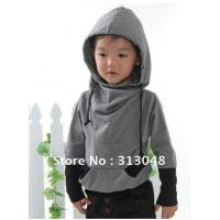 Buy cheap Children's Cotton Long-sleeved Casual T-shirt with Hood from wholesalers