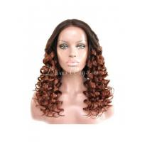 Buy cheap Honey Blond ombre wavy full lace human hair wig - wst868 from wholesalers