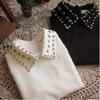 Buy cheap Ladies' Korean Chiffon Long Sleeve Diamonds POLO Blouses from wholesalers