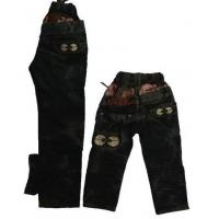 Buy cheap Children's Black Cartoon Breathable Elastic Denim Jeans from wholesalers