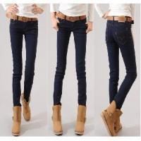Buy cheap Apparel New Korean Elasticity Slim Cotton Low-waist Jeans from wholesalers