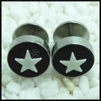 Buy cheap 316L Stainless steel star logos ear fake plug from wholesalers