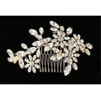 Buy cheap Bridal crystal headpiece - Vintage floral look - Hair comb - Style Rosaline Wedding Hair Ornament from wholesalers