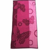 Buy cheap Yarn Dyed Polyester Bath Towels with 4 Designs from wholesalers