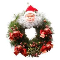 Buy cheap Christmas wreath with sitting snowman from wholesalers