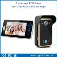 Buy cheap 2.4GHz 7inch Wireless Video Doorbell Intercom with Adjustable Camera Lens from wholesalers