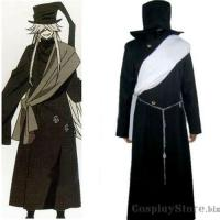 Buy cheap Black Butler Undertaker Halloween Cosplay Costume on sale from wholesalers