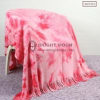 Buy cheap Acrylic Tie Dye Knitted Throw from wholesalers